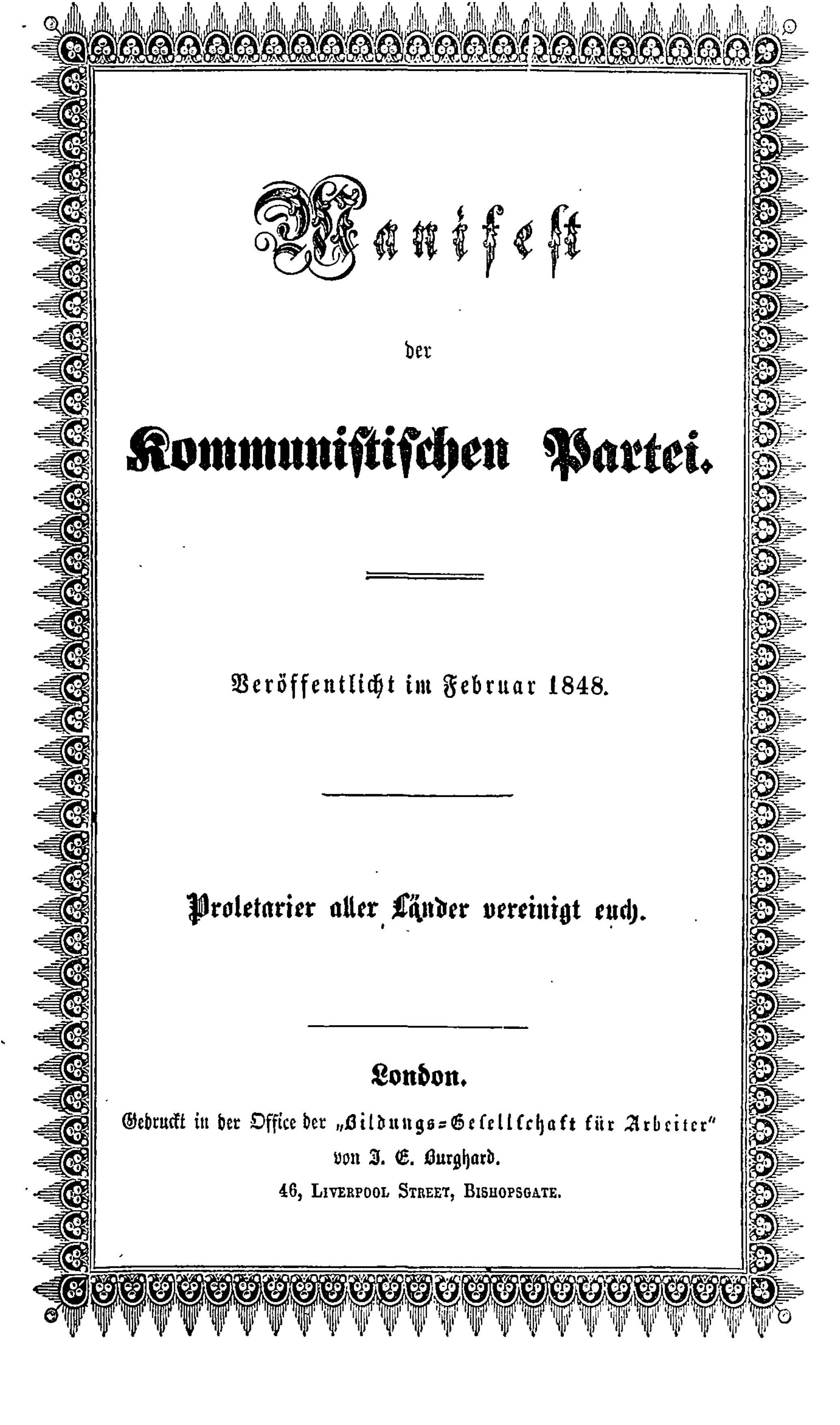 Het Communistisch Manifest 170 Jaar Oud En Nog Steeds